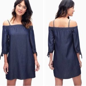 Nwt Splendid chambray off the shoulder dress